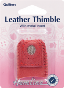 Hemline Leather Coin Thimble - Size Medium